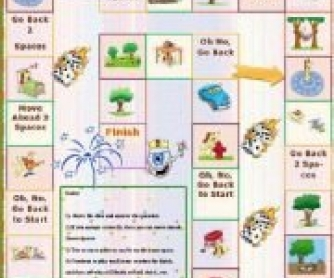 Prepositions of Place Boardgame