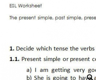 Exercises on Various Tenses