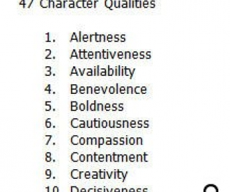 47 Character Qualities