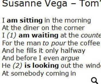Song Worksheet: Tom's Diner by Suzanne Vega [WITH VIDEO] Alternative 2