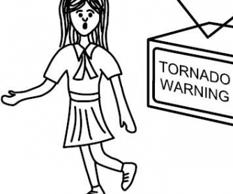 Weather Worksheet: Billy and Maria Learn About Tornado Safety - Part 1