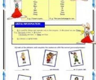 Personal Pronouns Worksheet 2