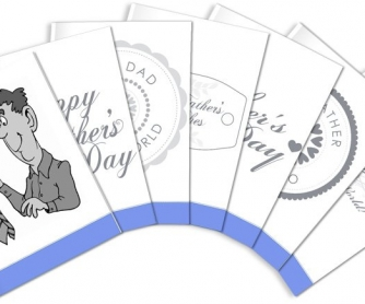 Father's Day Flashcards: 14 HI-RES Poster Quality Flashcards