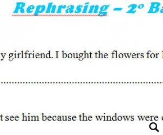 Rephrasing 1