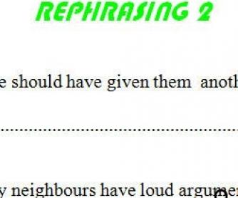 Rephrasing 2