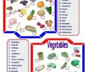 Fruit & Vegetables Matching Activity