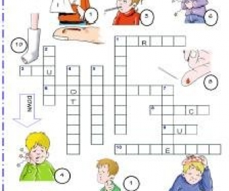 Ailments, Injuries and Diseases Picture Crossword