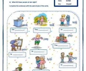 Simple Past Regular and Irregular Verbs