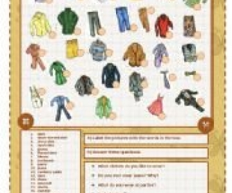 Clothes Worksheet 2