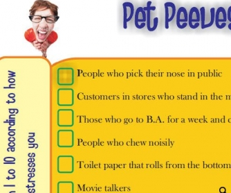 Pet Peeves Worksheet [WITH VIDEO]