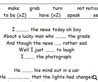 Song Worksheet: A Day In The Life by The Beatles [WITH VIDEO]