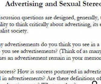 50 Discussion Questions on Advertising and Stereotypes