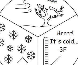 Weather Worksheet: Billy and Maria Learn About Winter Weather - Part 3