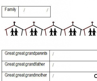 Our Family Worksheet