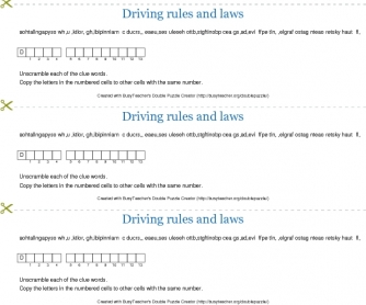 Driving Rules and Laws