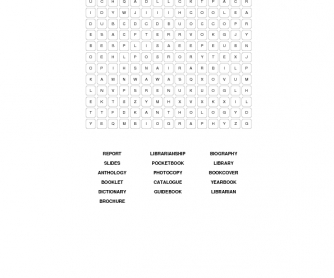 Librarianship wordsearch