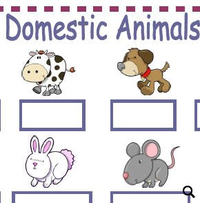 domestic animals and pets worksheet. Black Bedroom Furniture Sets. Home Design Ideas