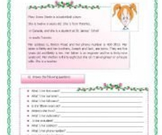 Written Test for Elementary Students