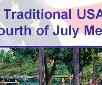 USA July 4th Menu