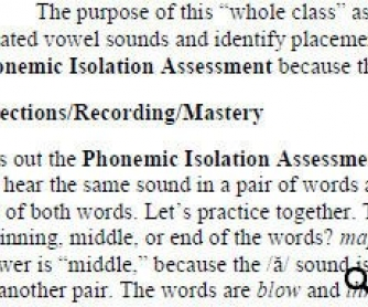 Phonemic Awareness Assessments