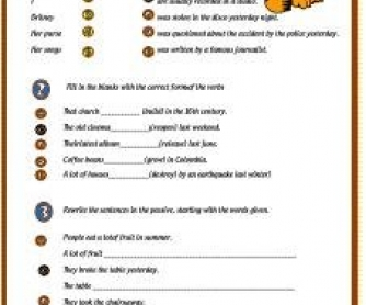 Passive Voice Intermediate Worksheet