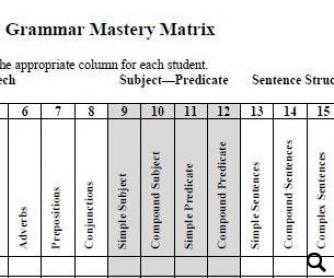 Diagnostic Grammar Assessment