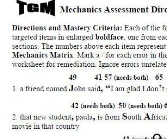 Diagnostic Mechanics Assessment