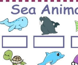 Sea Animals Worksheet