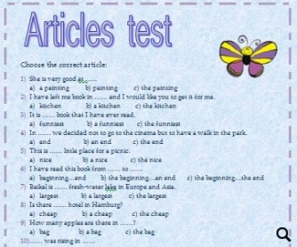 Test on Articles