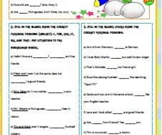 Personal Pronouns Worksheet (updated)