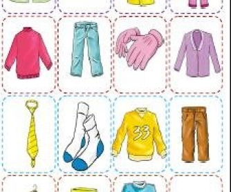 Clothes worksheets for kids kindergarten