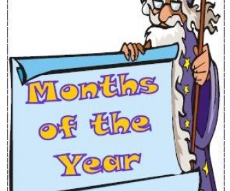 Months of the Year: Flashcards