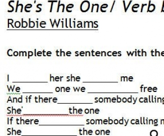 Song Worksheet: She's The One by Robbie Williams [WITH VIDEO]