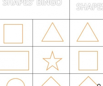 Shapes' Bingo for Kids