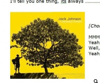 Song Worksheet: Better Together by Jack Johnson [WITH VIDEO]