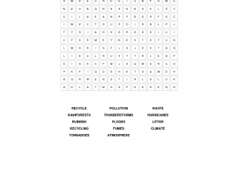 The Environment Word Search Puzzle