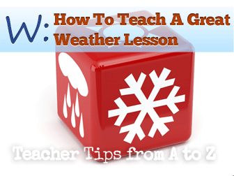 ☂ W: Weather Caster for a Day [Teacher Tips from A to Z]