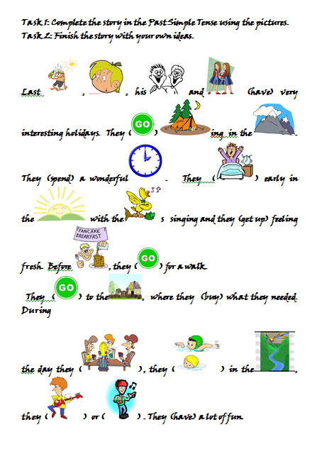 Last Summer Holidays Worksheet