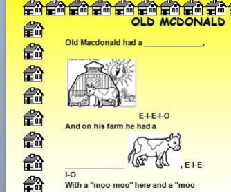 Song Worksheet: Old McDonald Had A Farm [WITH VIDEO]