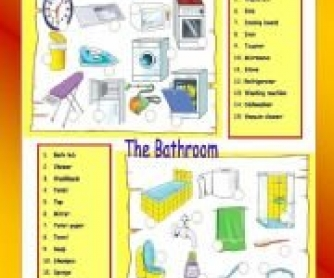 The Bathroom And The Kitchen: Matching Activity