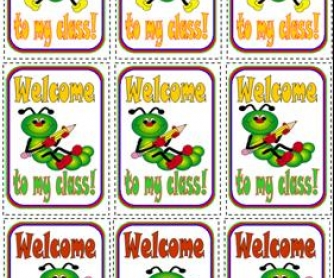 Back To School: Welcome Stickers