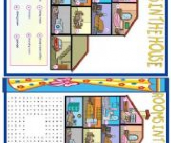 Rooms In The House: Elementary Worksheet