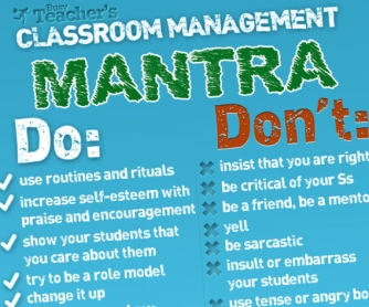 POSTER: Classroom Management Mantra [HI-RES]