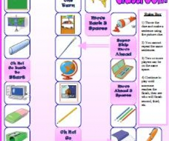 Back to School : Classroom Supplies Boardgame (Updated)