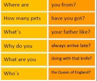Wh-Questions: Scrambled Sentences