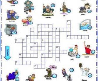 Past Simple Irregular Verbs: Picture Crossword