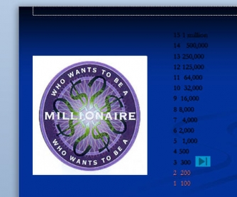 Who wants to be a millionaire game template for Who want to be a millionaire game template