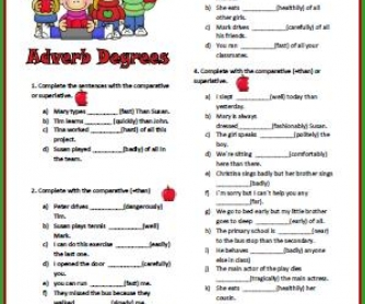 Adverb Degrees Worksheet