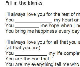 Song Worksheet: I'll Always Love You by Tito Nieves [WITH VIDEO]