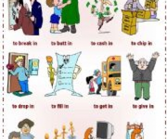 Phrasal Verbs with In: Worksheet